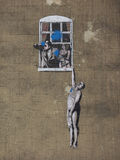 Banksy Well Hung Lover in Bristol Stock Photos