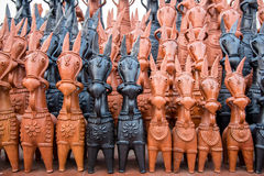 Bankura lerahästar royaltyfri fotografi