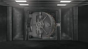 Bankvalv och öppnande kassaskåp med alfabetiskchanel stock video