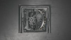 Bankvalv och öppnande kassaskåp med alfabetiskchanel arkivfilmer