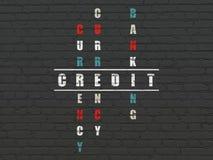 Bankwesenkonzept: Kredit im Kreuzworträtsel Lizenzfreies Stockbild