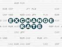 Bankwesenkonzept: Wechselkurs auf Wandhintergrund Stockbilder