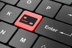 Bankwezenconcept: Creditcard op de achtergrond van het computertoetsenbord Stock Afbeeldingen