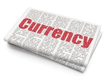 Bankwezenconcept: Munt op Krantenachtergrond Royalty-vrije Stock Foto's
