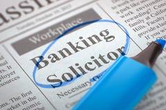 Bankwezenrechtskundig adviseur Hiring Now 3d Stock Fotografie