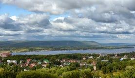 Banlieue de ville de Samara photographie stock libre de droits