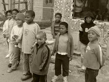Banlieue noire de Khayelitsha Images stock