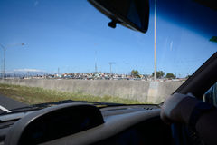 Banlieue noire de Khayelitsha, Cape Town Images stock