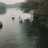 Banlieue noire de l'eau de Jiangnan image stock