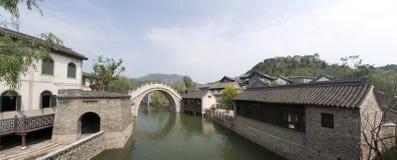 Banlieue noire du nord antique de Pékin Miyun Images stock