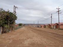 Banlieue noire, Porth-Elizabeht Afrique du Sud photographie stock libre de droits