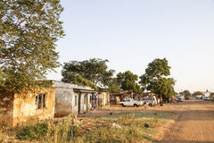 Banlieue noire rurale - Mulanje Photographie stock