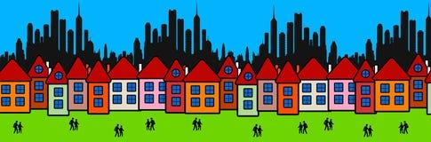 banlieues Image libre de droits