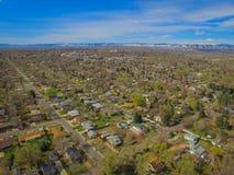 Banlieues de Denver Photographie stock