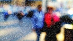 Banlieusards de ville en hiver Image stock