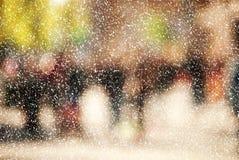Banlieusards de ville en hiver Photographie stock