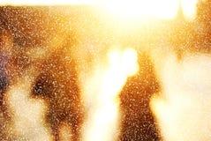 Banlieusards de ville en hiver Photographie stock libre de droits