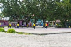 Bann-adang Schule auf Koh Lipe in Satun, Thailand Lizenzfreies Stockfoto