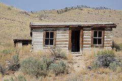 Bannak Montana Ghost Town Shack foto de stock royalty free