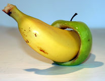 Bannana and apple Stock Photography