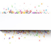 Bannar with letters. Royalty Free Stock Photos