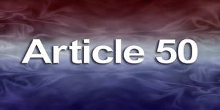 Banne dell'articolo 50 Fotografia Stock