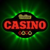 Banne en ligne de casino Illustration Stock