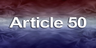 Banne för artikel 50 Arkivfoto