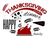 Banne heureux de jour de thanksgiving Photo libre de droits