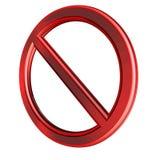 Banned. 3D illustration stock illustration