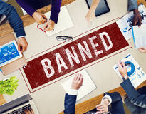 Banned Denied Declined Negative Stamp Concept Royalty Free Stock Photos