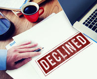 Banned Denied Declined Negative Stamp Concept Stock Photo