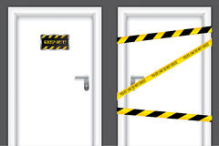 Banned doors Royalty Free Stock Photography