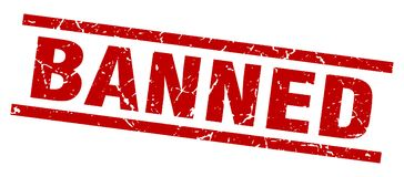 Banned stamp Royalty Free Stock Photo