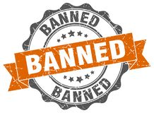 Banned stamp Royalty Free Stock Images