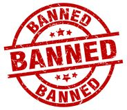 Banned stamp Royalty Free Stock Photos