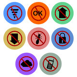 Banned Icon designs Set 1 Stock Photo