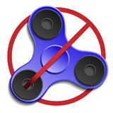 Banned or Not Allowed to Use a Fidget Spinner concept. Royalty Free Stock Images