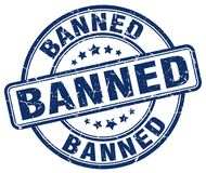 Banned stamp Stock Photography