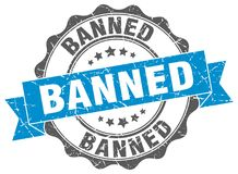Banned seal Royalty Free Stock Image