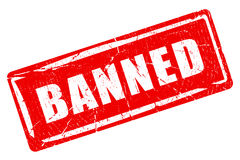 Banned rubber stamp Royalty Free Stock Photography