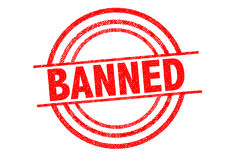 BANNED Rubber Stamp Stock Photography