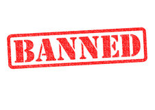 BANNED. Rubber stamp over a white background Royalty Free Stock Image