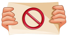 A banned sign. Illustration of a banned sign on a white background Royalty Free Stock Photos