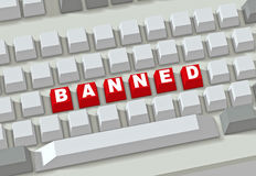 Banned Site Royalty Free Stock Photo