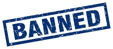 Banned stamp Stock Images