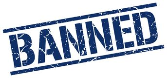 Banned stamp Royalty Free Stock Image