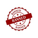 Banned stamp illustration Royalty Free Stock Photos