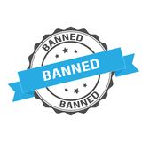 Banned stamp illustration Royalty Free Stock Photo