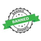 Banned stamp illustration Royalty Free Stock Photography